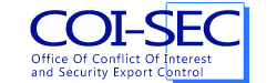 利益相反・輸出管理マネジメント室<COI‐SEC>ロゴ